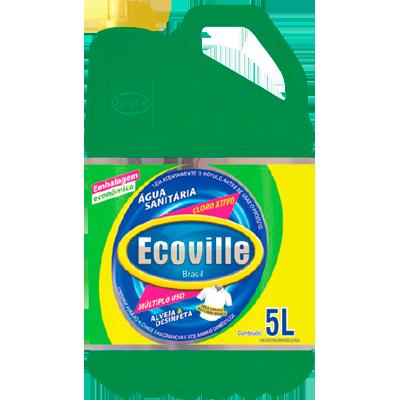 Água sanitária com cloro ativo 5Litros Ecoville galão GL