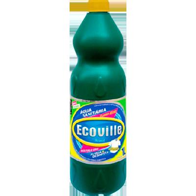 Água sanitária frasco 1Litro Ecoville FR