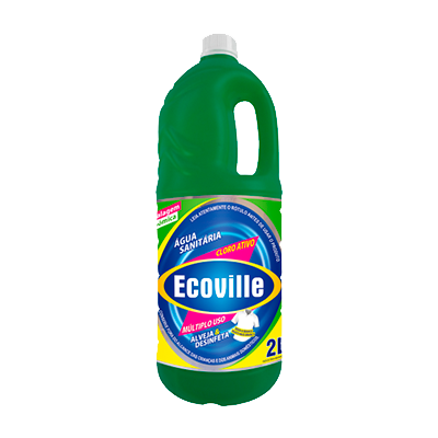 Água sanitária frasco 2Litros Ecoville FR