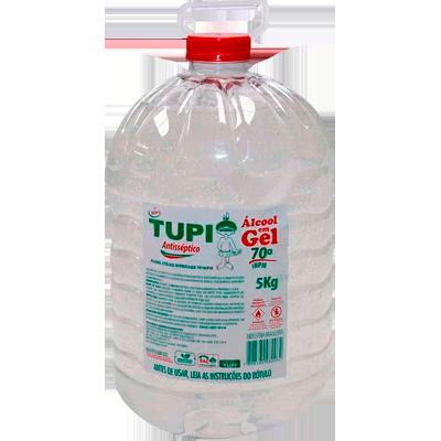 Álcool em Gel Antisséptico 70° 5kg Tupi galão GL