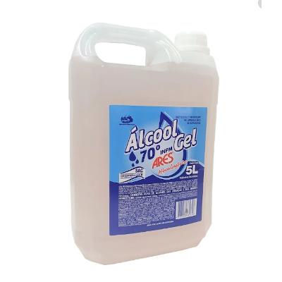 Álcool em Gel Antisséptico 70° 5kg Ares galão GL