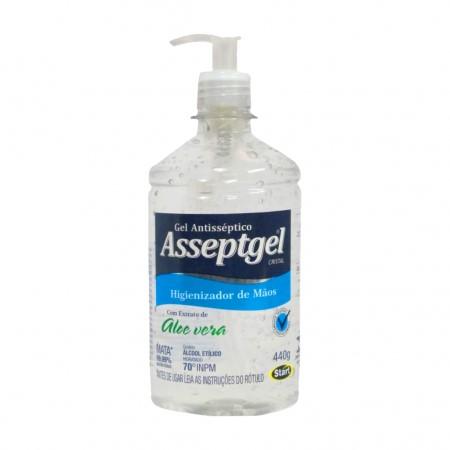Álcool em gel antisséptico Aloe Vera 70° 420g Asseptgel UN