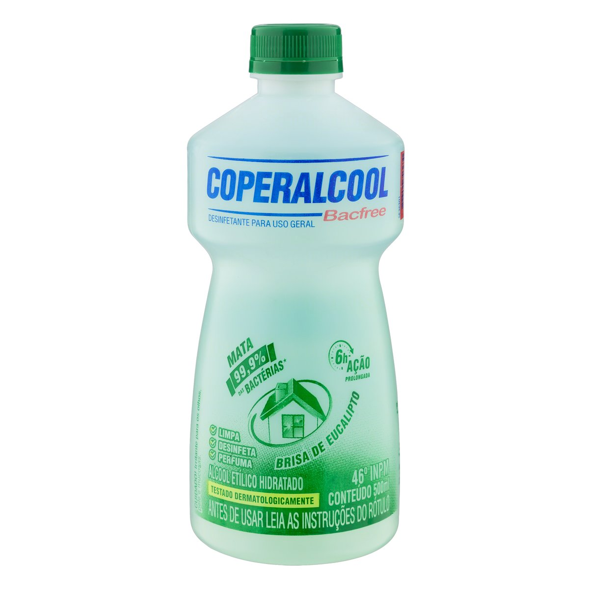Álcool líquido 46° Eucalipto 500ml Coperalcool frasco FR
