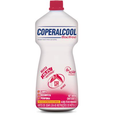 Álcool líquido 46° mimo bacfree frasco 1Litro Coperalcool FR
