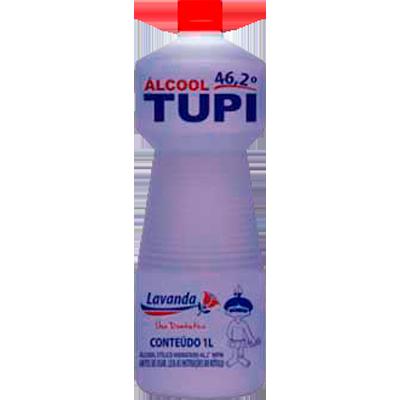 Álcool líquido 46,2° lavanda 1Litro Tupi frasco FR