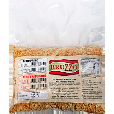 Alho frito em flocos finos 500g Bruzzo pacote UN