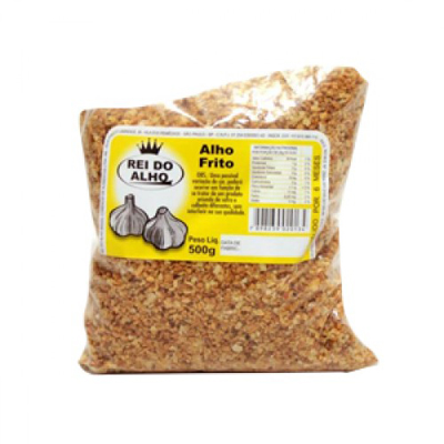Alho frito  500g Rei do Alho pacote UN