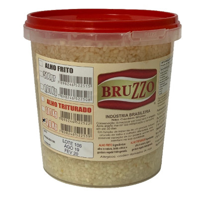 Alho triturado por Kg balde de 3 a 4kg Bruzzo KG