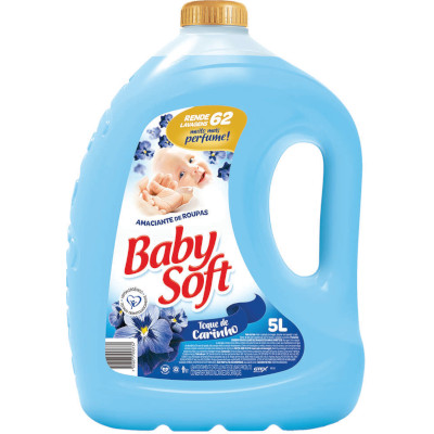 Amaciante de roupas carinho azul 5Litros Baby Soft frasco FR