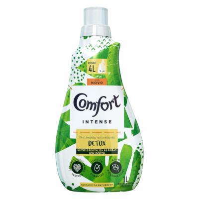 Amaciante de roupas concentrado intense detox 1Litro Comfort frasco FR