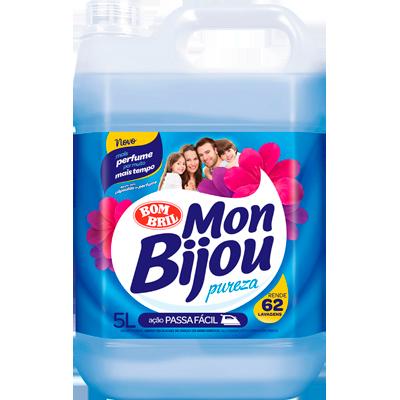 Amaciante de roupas pureza azul 5Litros Mon Bijou galão GL