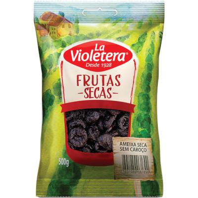 Ameixa seca e sem caroço pacote 500g La Violetera PCT