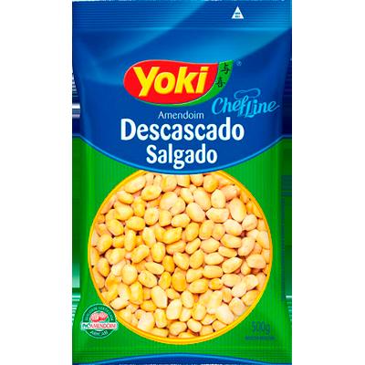 Amendoim descascado salgado 500g Yoki pacote UN