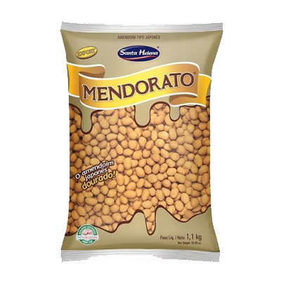 Amendoim japonês 1kg Mendorato pacote PCT