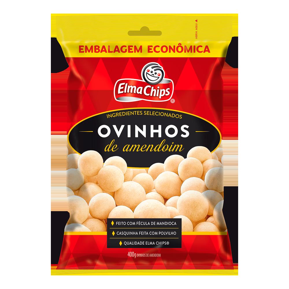 Amendoim ovinhos 400g Opa/Elma Chips pacote PCT