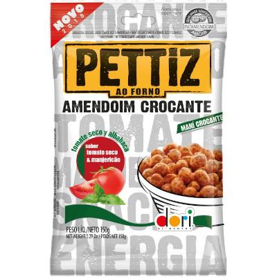 Amendoim sabor tomate seco e manjericão 150g Dori/Pettiz pacote PCT