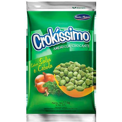 Amendoim sabor Salsa e Cebola 1,01Kg Crokíssimo Santa Helena pacote PCT