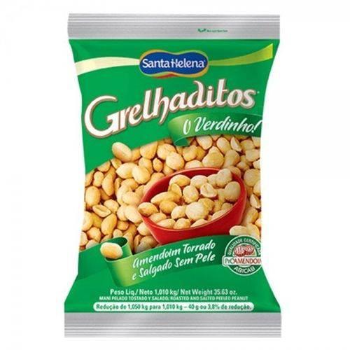 Amendoim sem pele 1,01Kg Grelhaditos Santa Helena pacote PCT