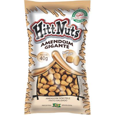 Amendoim sem pele 40g HittNuts pacote UN