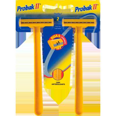 Aparelho de Barbear com 2 lâminas 2 unidades Probak II embalagem UN