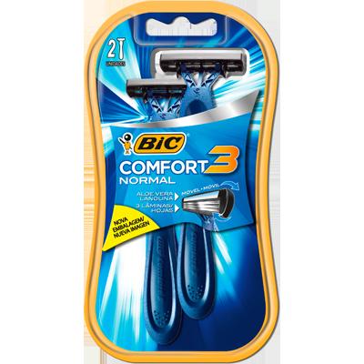 Aparelho de Barbear pele normal 2 unidades Bic Comfort 3  UN