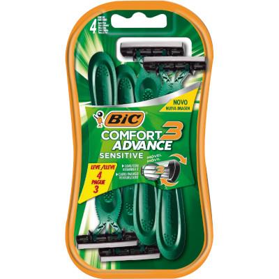 Aparelho de Barbear Pele Sensível Leve 4 Pague 3 4 unidades Bic Comfort 3  UN