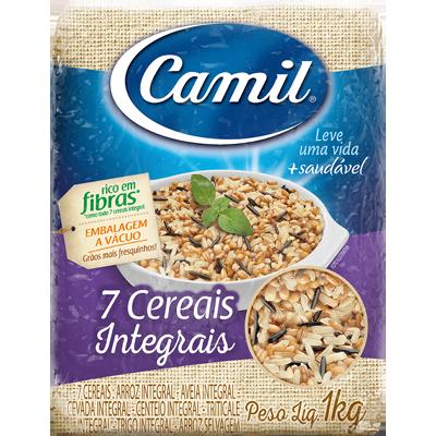 Arroz integral 7 cereais 1kg Camil pacote PCT
