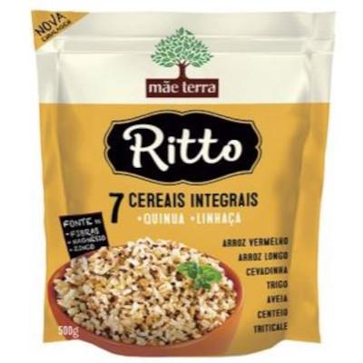 Arroz integral 7 cereais pacote 500g Ritto PCT