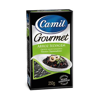 Arroz negro selvagem 250g Camil Gourmet pacote PCT