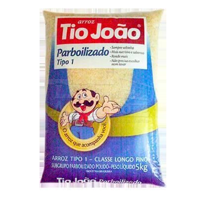 Arroz parboilizado 5kg Tio João pacote PCT