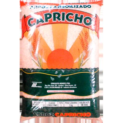 Arroz parboilizado tipo 1 5kg Capricho pacote PCT