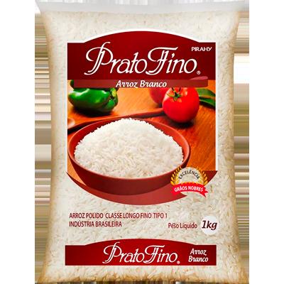 Arroz tipo 1 1kg Prato Fino pacote PCT