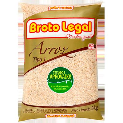 Arroz tipo 1 5kg Broto Legal pacote PCT