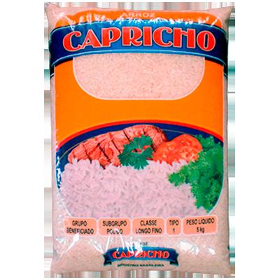 Arroz tipo 1 5kg Capricho pacote PCT