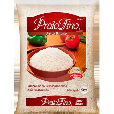 Arroz tipo 1 5kg Prato Fino pacote PCT