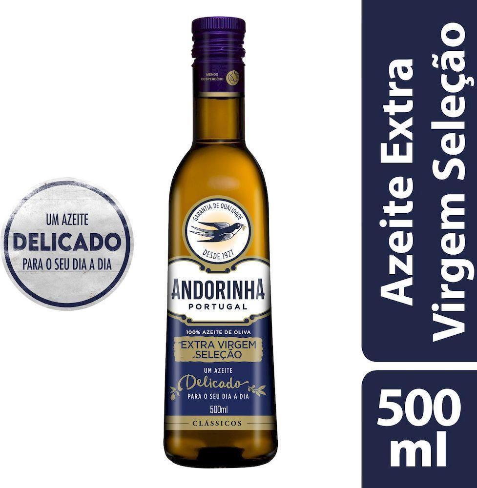Azeite de Oliva extra virgem seleção vidro 500ml Andorinha UN