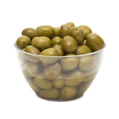 Azeitona Verde Ascolano com caroço 60/80 balde 13 a 15kg Napolitano KG