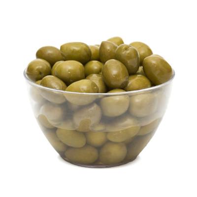 Azeitona Verde Ascolano com caroço 60/80 1,8 a 2kg Napolitano balde KG