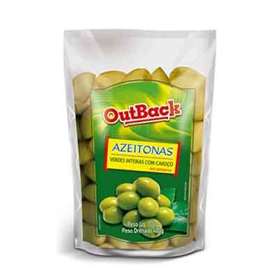 Azeitona Verde com caroço sachê 400g OutBack UN