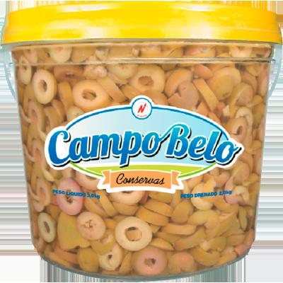 Azeitona Verde fatiada 1,8 a 2kg Campo Belo balde KG