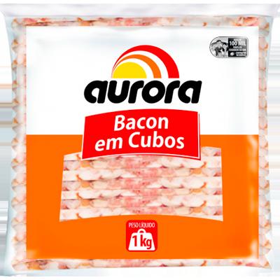 Bacon em cubos por kg Aurora pacote KG