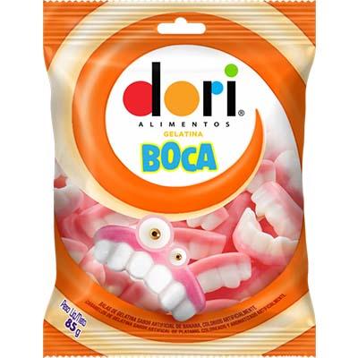 Bala de gelatina boca 85g Dori pacote PCT