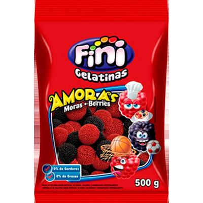Bala de gelatina 500g Fini/Amoras pacote PCT