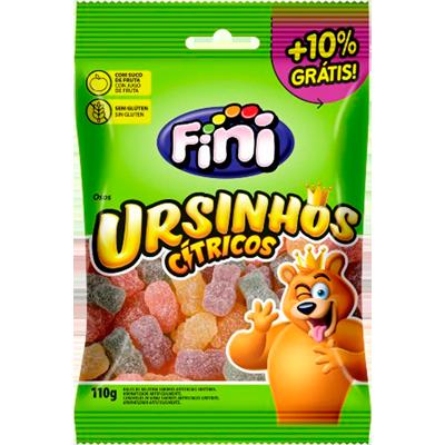 Bala de gelatina sabor cítrico 12 unidades de 110g Fini/Ursinhos caixa CX