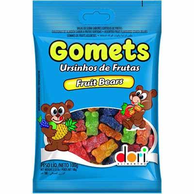 Bala de goma ursinhos de frutas 100g Gomets/Dori pacote PCT