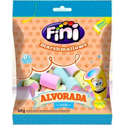 Bala de marshmallow 12 unidades de 60g Fini/Alvorada caixa CX