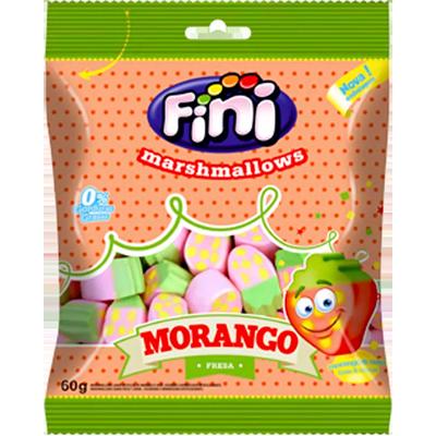 Bala de marshmallow 12 unidades de 60g Fini/Morango caixa CX