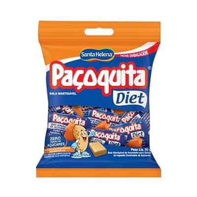 Bala diet pacote 50g Santa Helena/Paçoquita PCT