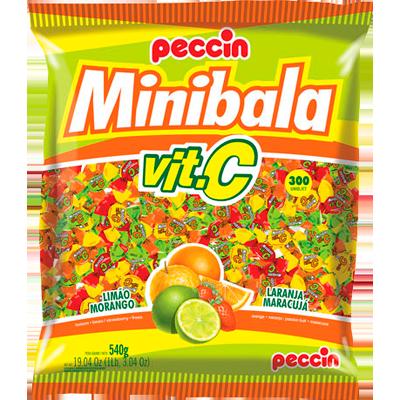 Bala Mini Vit C pacote 540g Peccin PCT
