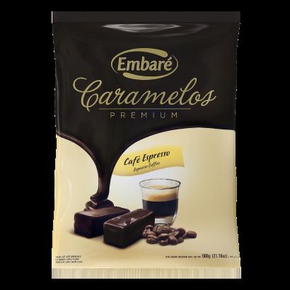 Bala sabor café espresso 600g Embaré/ Caramelos Premium pacote PCT